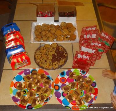 La mesa de las galletas.