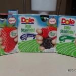 Las tres variedades de Dole Fruit Squish'ems