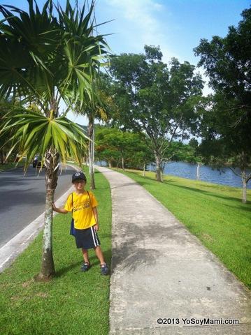 Caminando por el lago