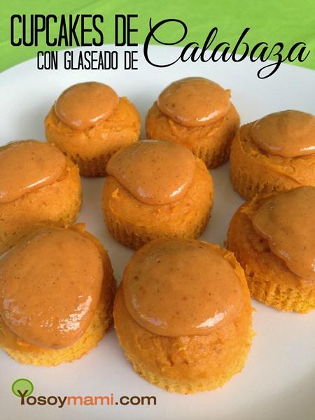 Cupcakes de Calabaza con Glaseado de Calabaza {Receta} | YoSoyMami.com