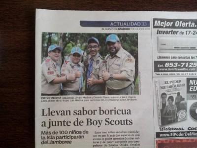 Cuando tus hijos salen en el periódico por las razones correctas! ;-) [papá es el adulto en la foto]