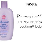 Paso 2 Johnsons Baby Bedtime Lotion | @yosoymamipr
