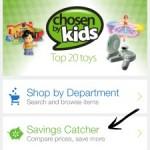 Página principal del app de Walmart
