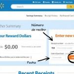 Página de SavingsCatcher.com para entrar los datos del recibo