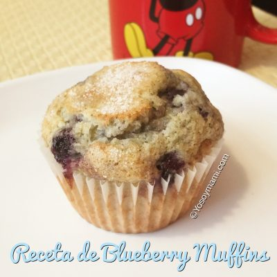 Receta de Blueberry Muffins | @yosoymamipr