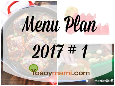 Menu Plan 2017-1 | @yosoymamipr