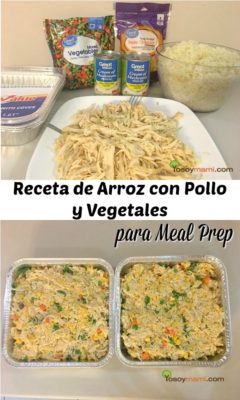 Receta de Arroz con Pollo y Vegetales para Meal Prep | @yosoymamipr