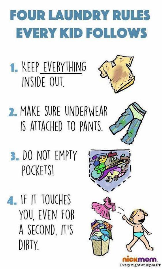 four laundry rules every kid follows | @yosoymamipr