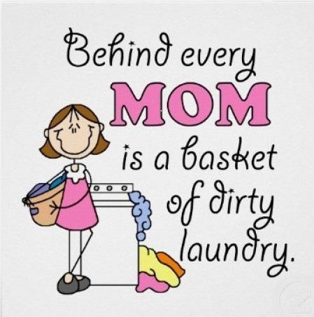 Detrás de cada mamá hay una canasta de ropa sucia | @yosoymamipr